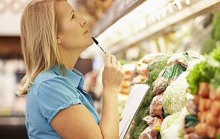 Caregiver selecting healthy foods Flower Mound